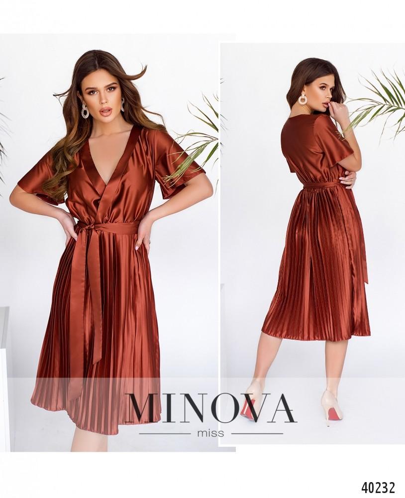 Платье №2012-терракотовый -MV