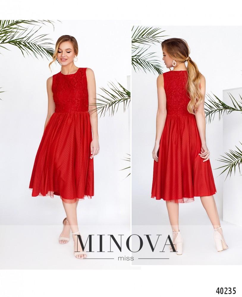 Платье №3143-красный-MV