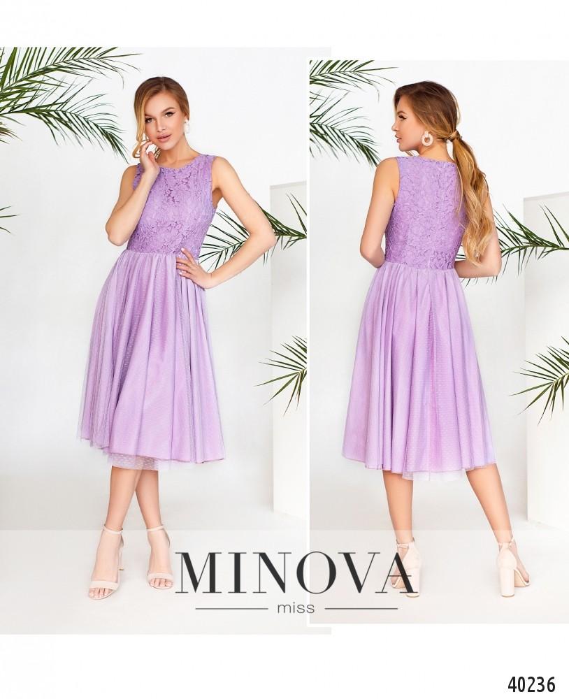 Платье №3143-сиреневый-MV