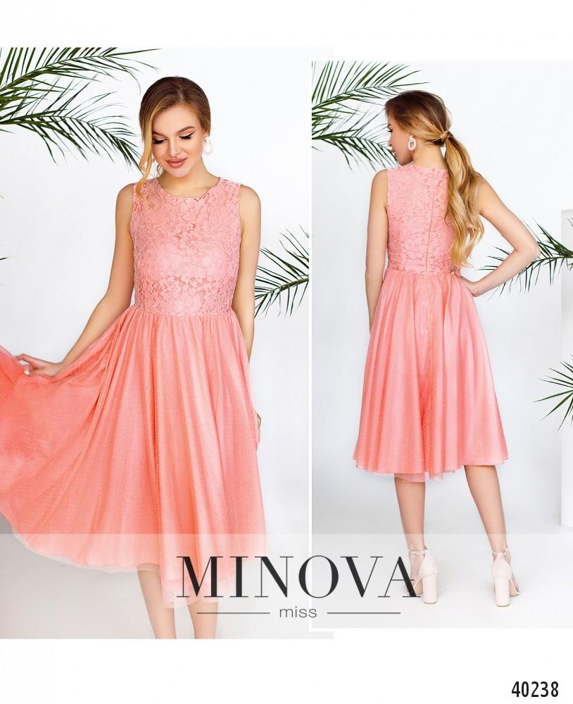 Платье №3143-персик-MV