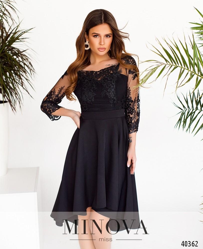 Платье №1083-Черный (н)