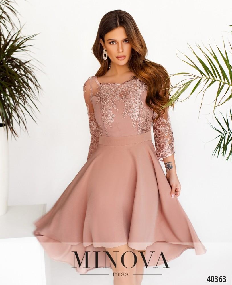 Платье №1083-Пудровый (н)