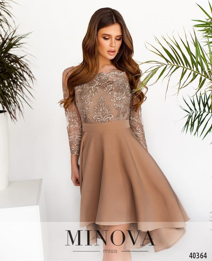Платье №1083-Бежевый (н)