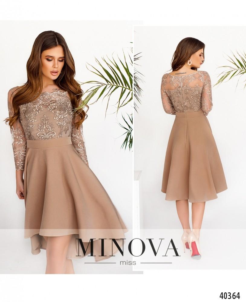 Платье №1083-Бежевый-М
