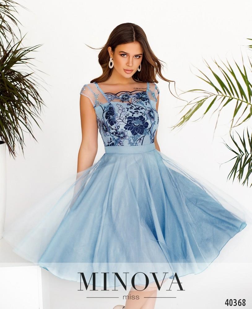 Платье №2103-Голубой (н)