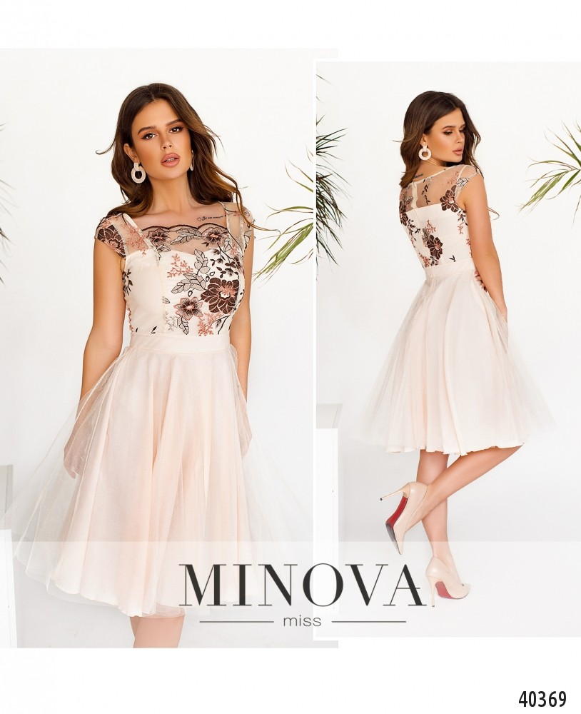 Платье №2103-Молочный-М