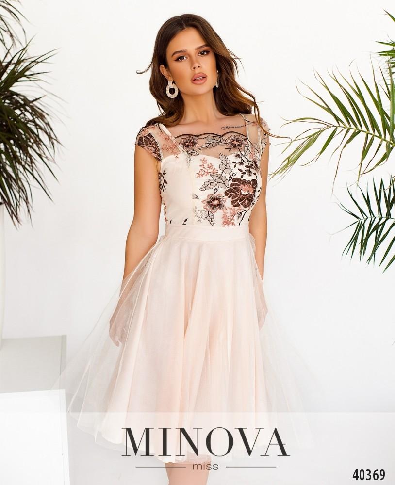 Платье №2103-Молочный (н)