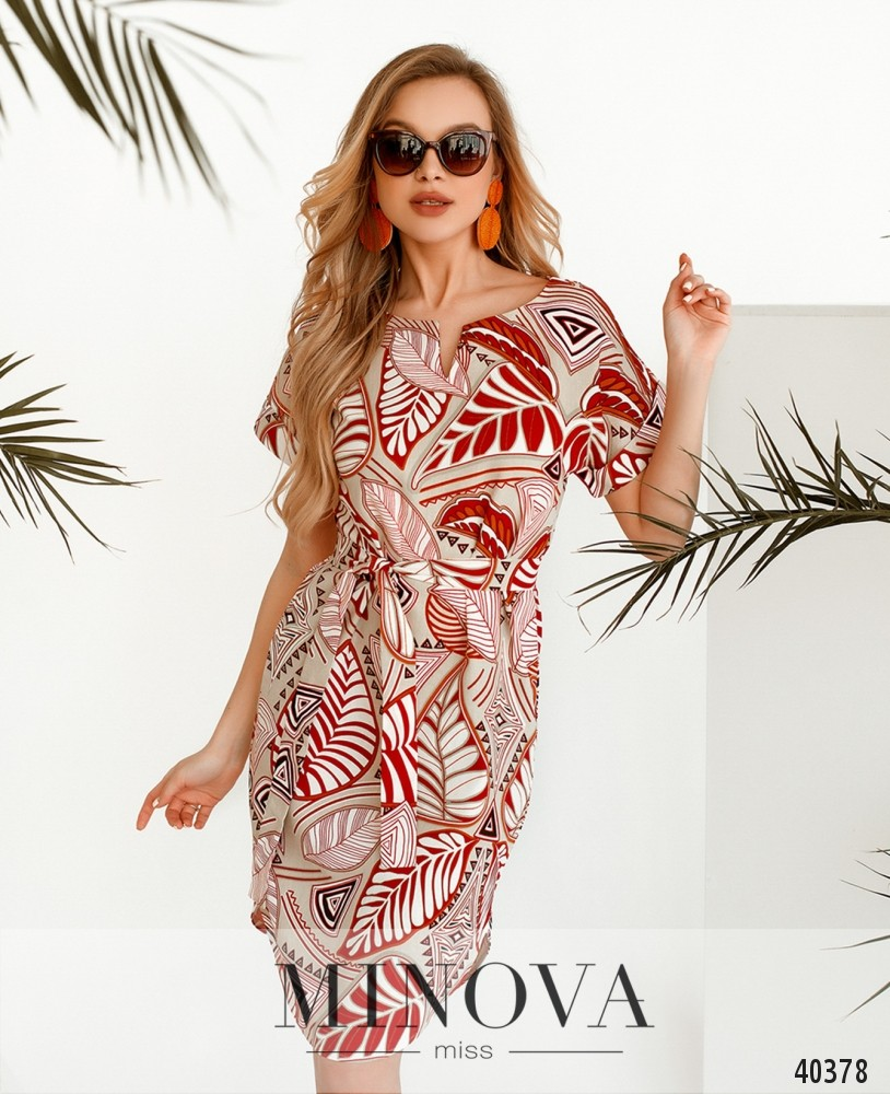 Платье №2101-Красный (н)
