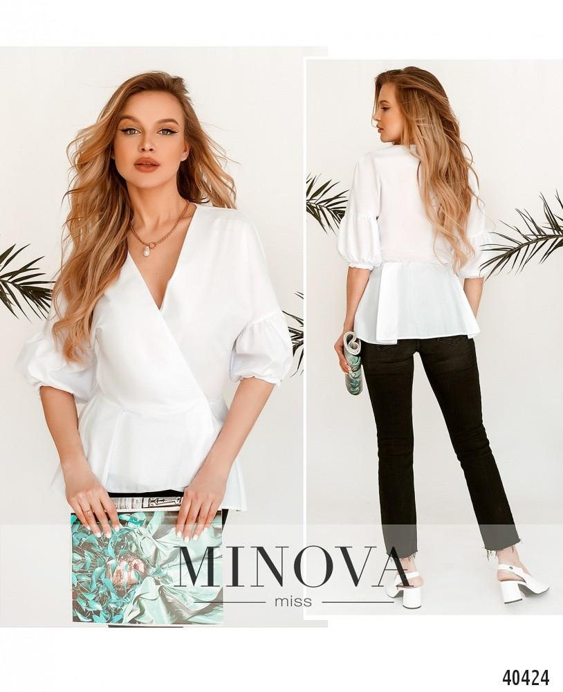 Рубашка №201-1-Белый-М