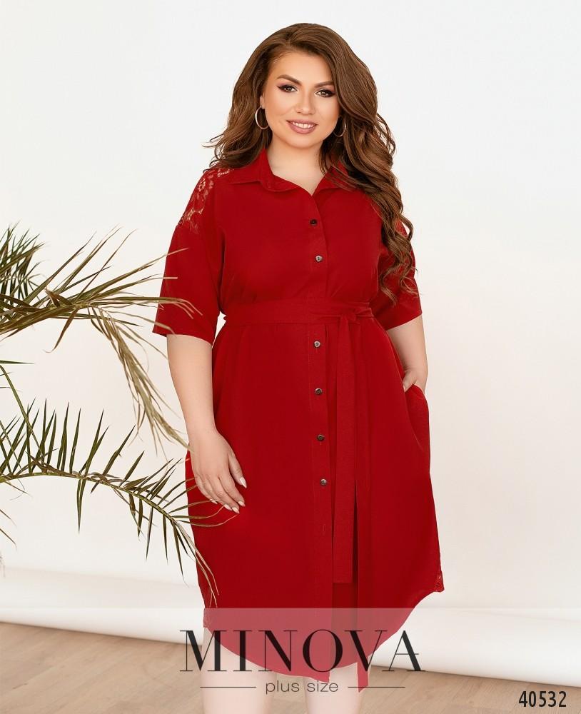Платье №3339-красный