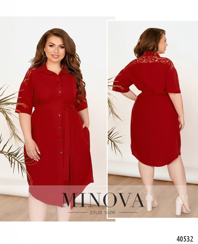 Платье №3339-красный-М