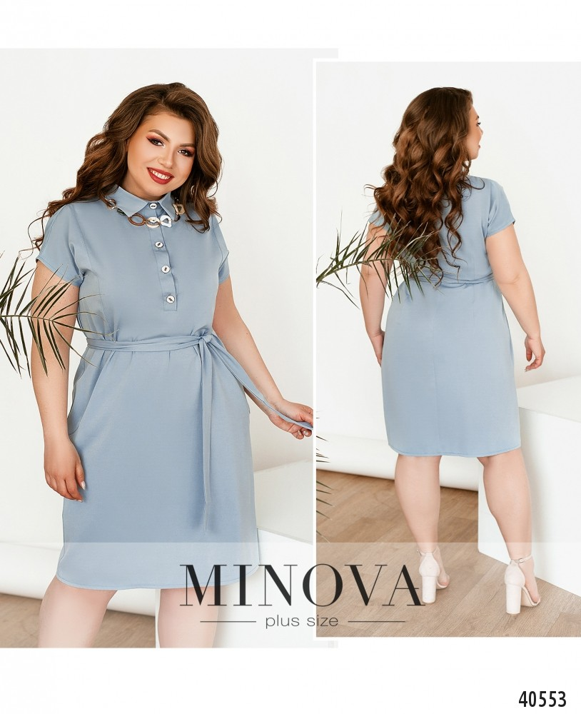 Платье №273-серый-М