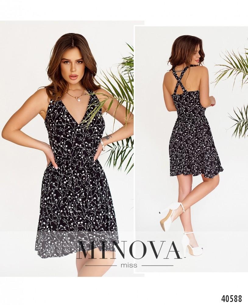 Платье №2013-черный-М
