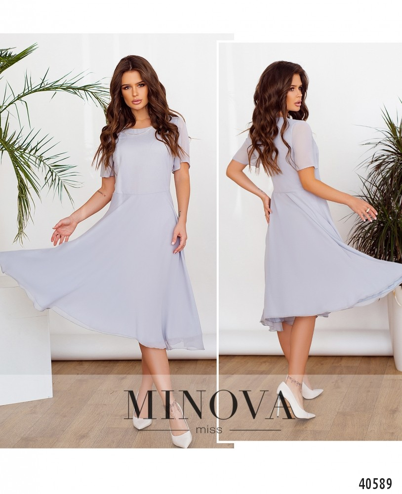 Платье №3148-серый-М