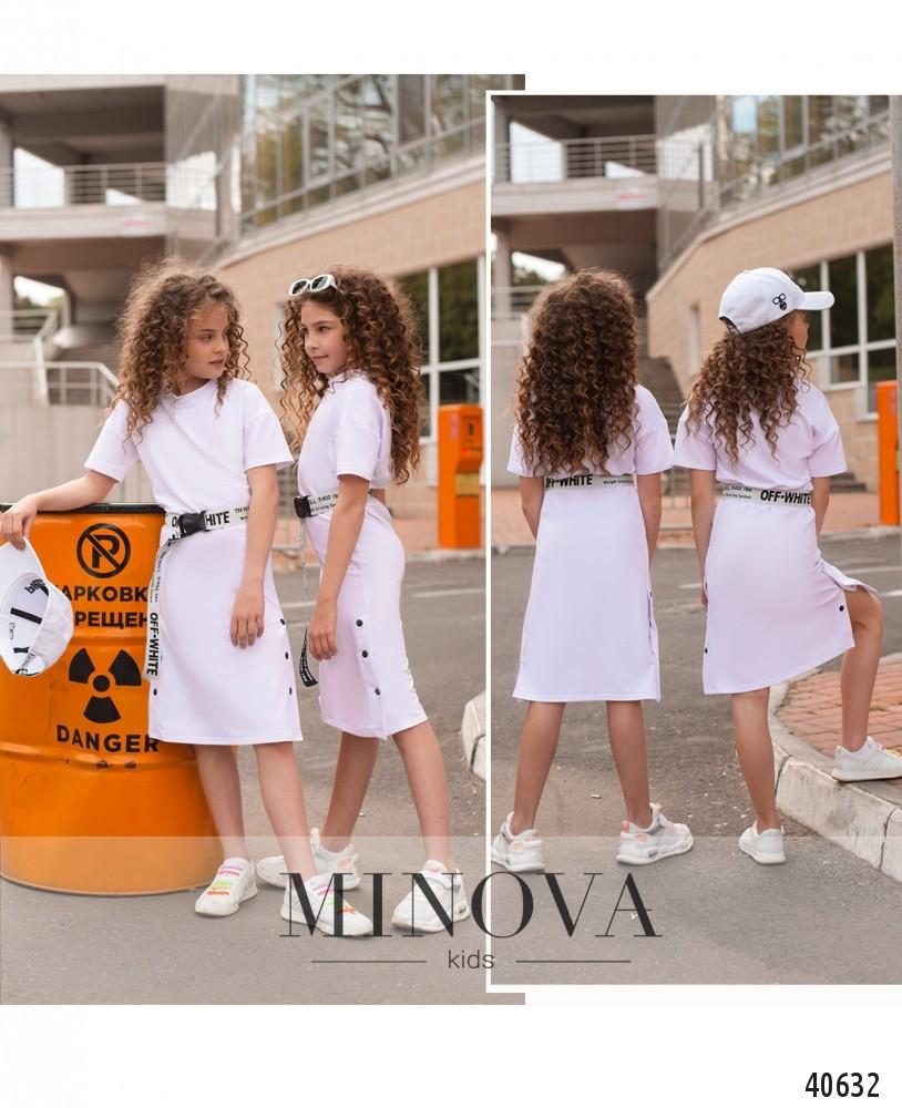 Платье №870Д-белый-М