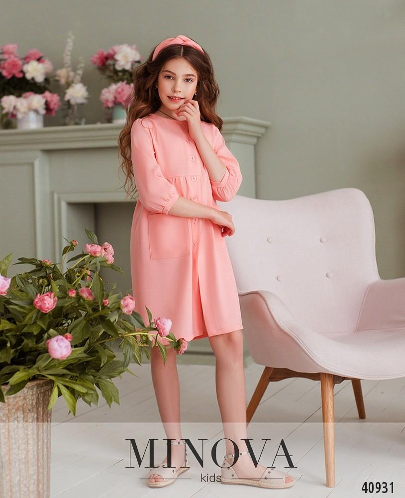 Платье №878Д-розовый