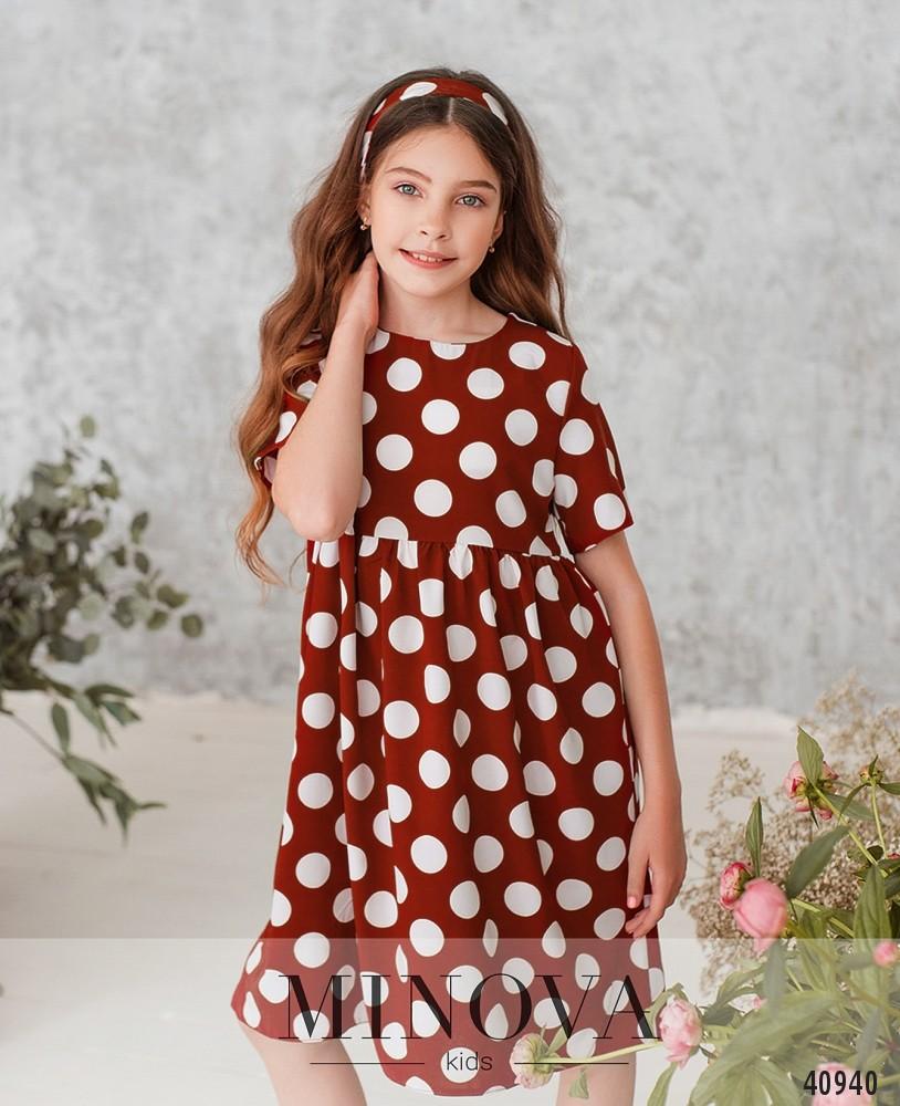 Платье №872Д-кирпичный