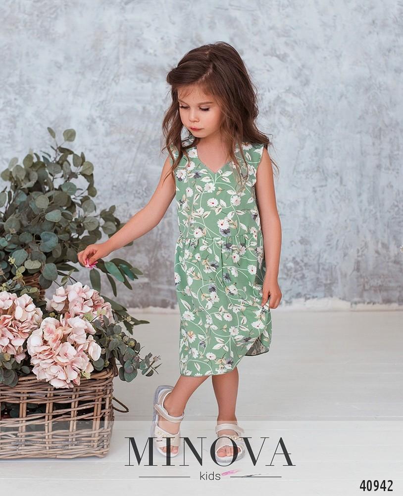 Платье №880Д-оливка