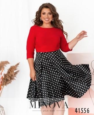 Платье №533Б-красный