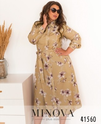 Платье №18042-1-бежевый
