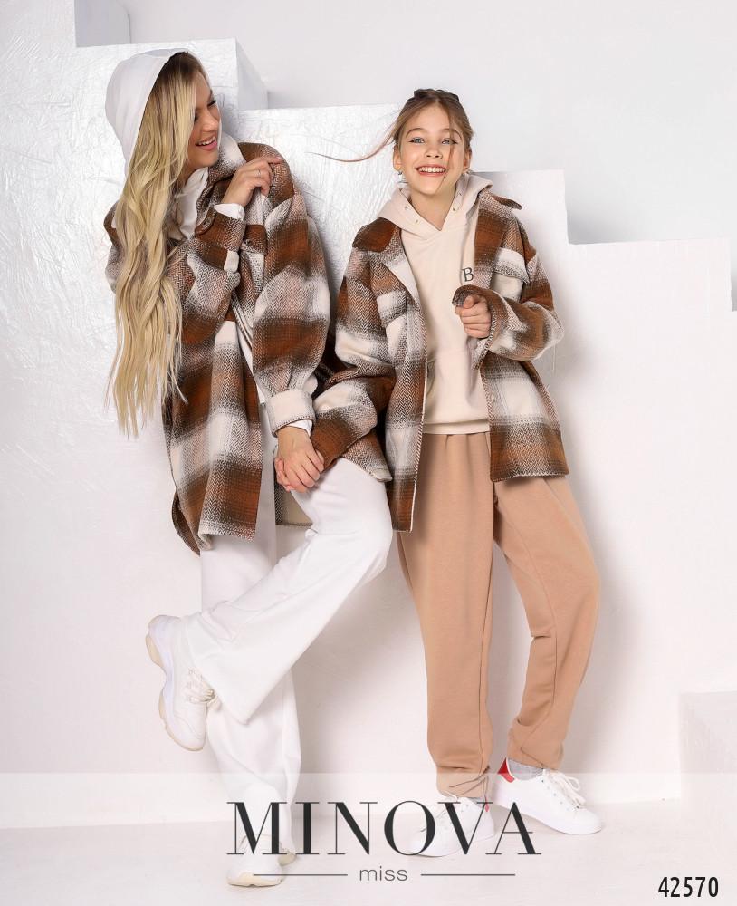 Кардиган-пальто MA529-1-бежевый (н/б)