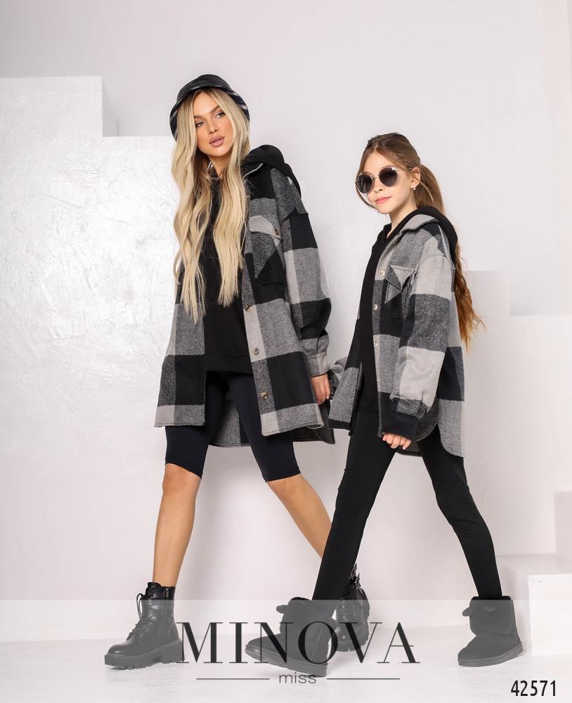 Кардиган-пальто MA529-1-черный (н/б)