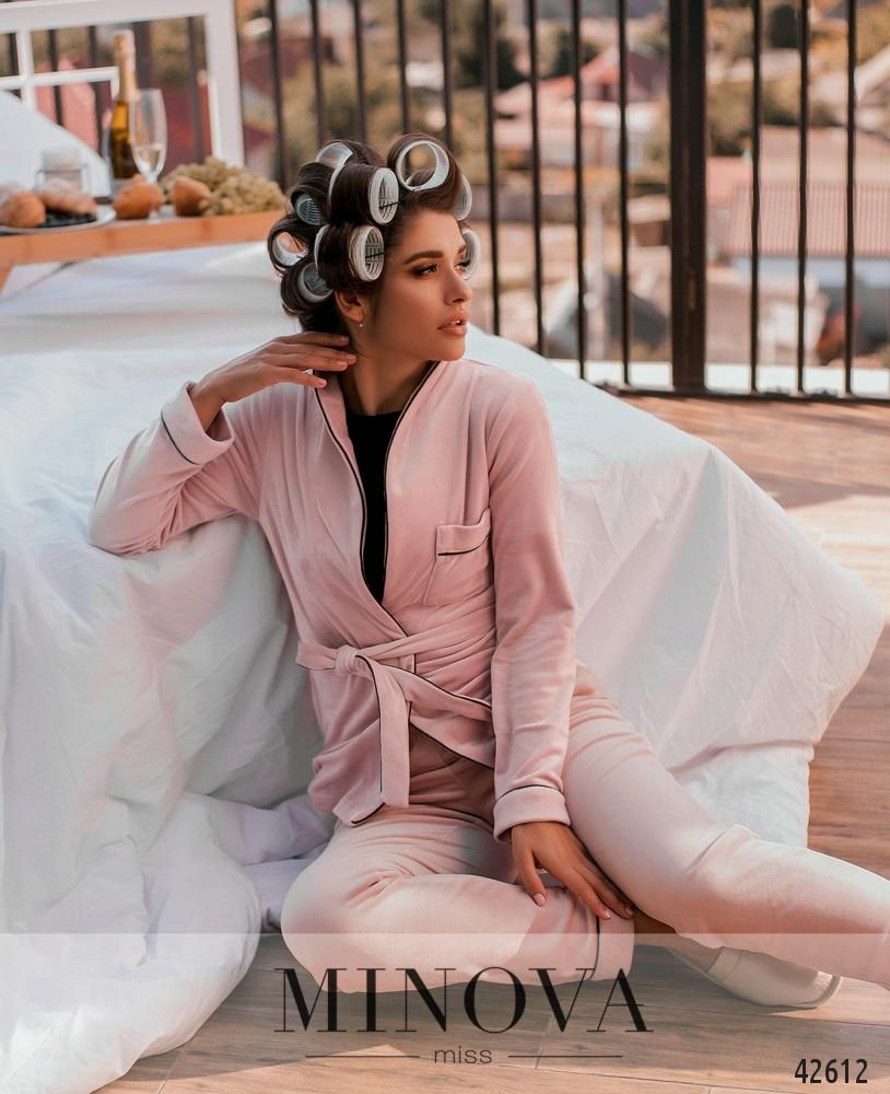 Пижамный комплект MA2083-пудра (н)