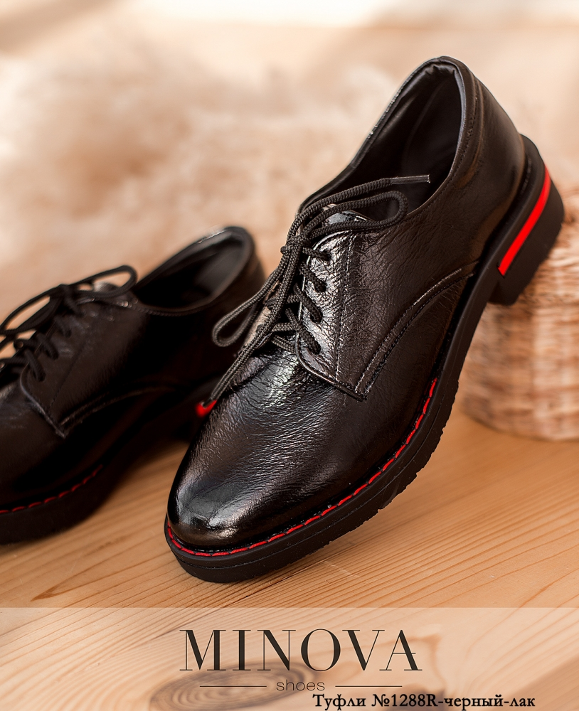 Туфли MA1288R-черный-лак