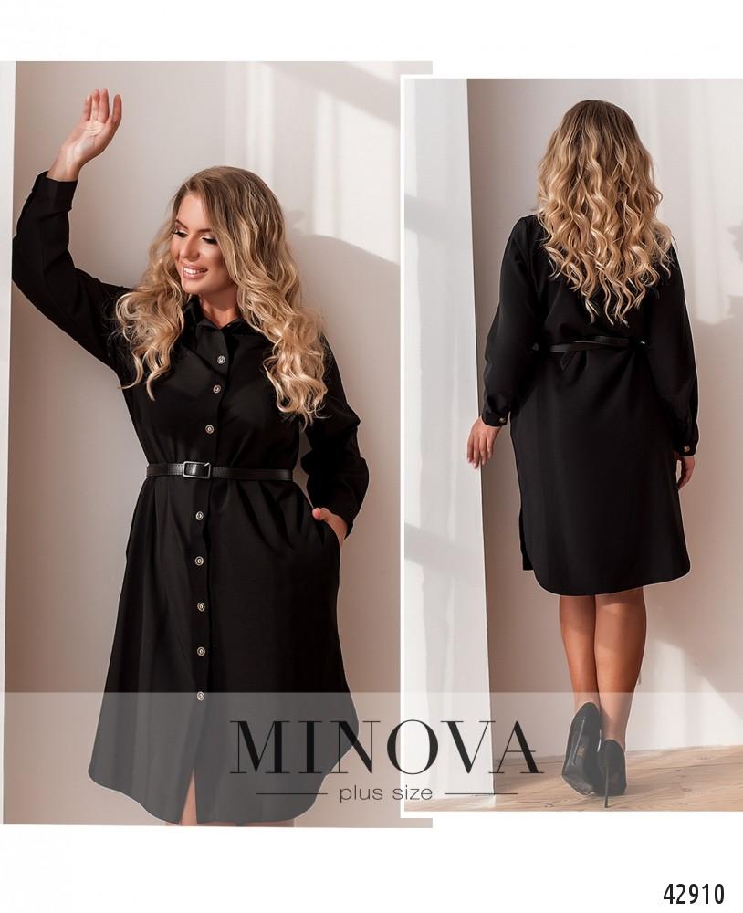 Платье №2077-1-черный