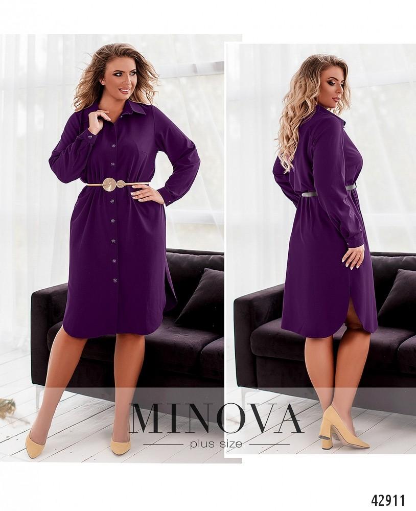 Платье №2077-1-фиолетовый