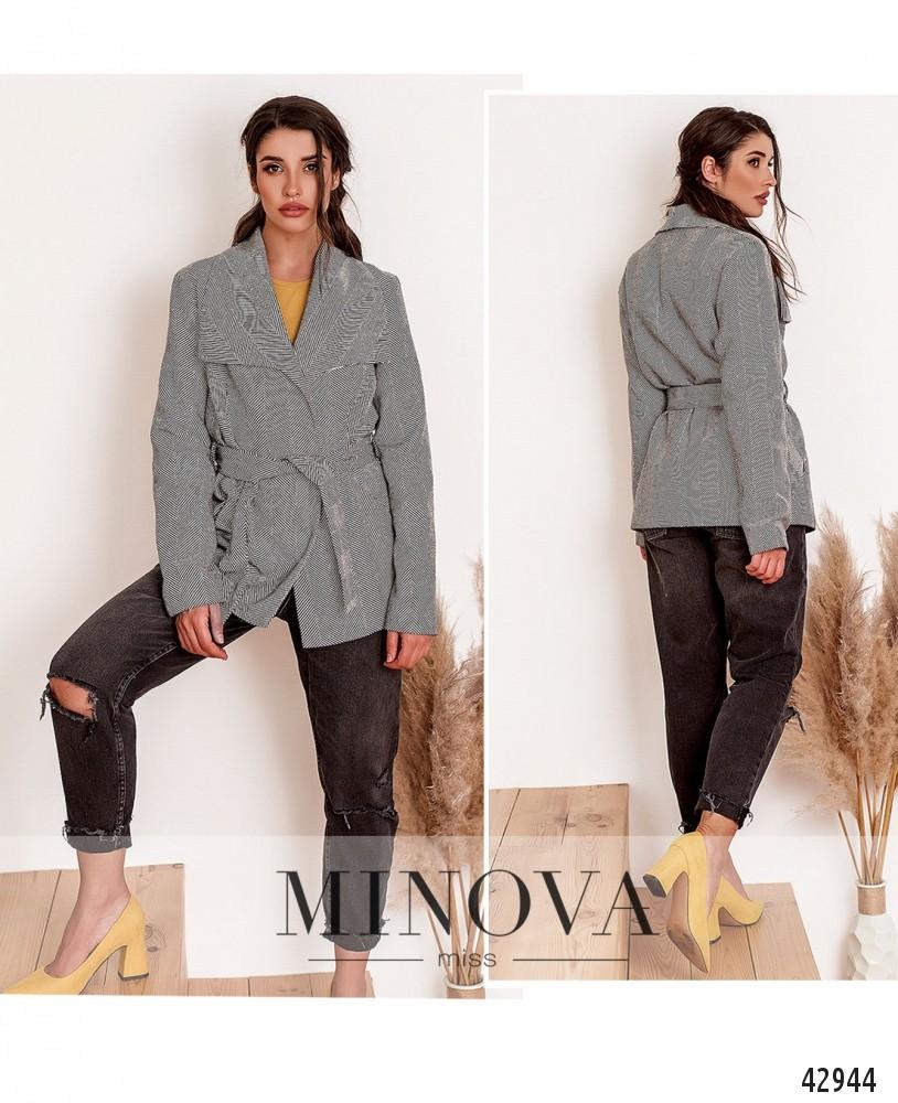 Пальто №164-серый