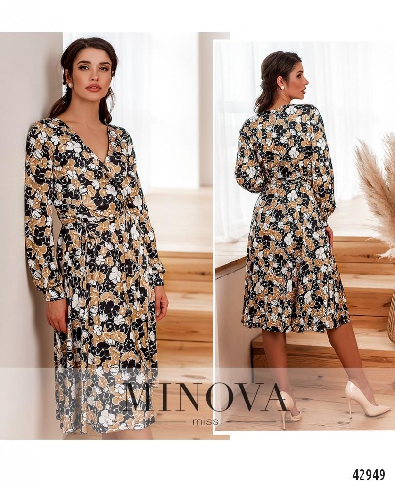 Платье №2033-бежевый