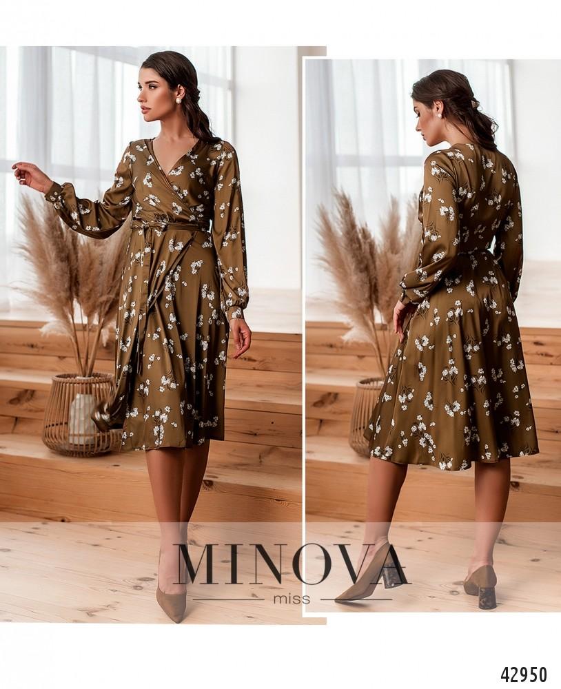 Платье №2033-песочно-коричневый