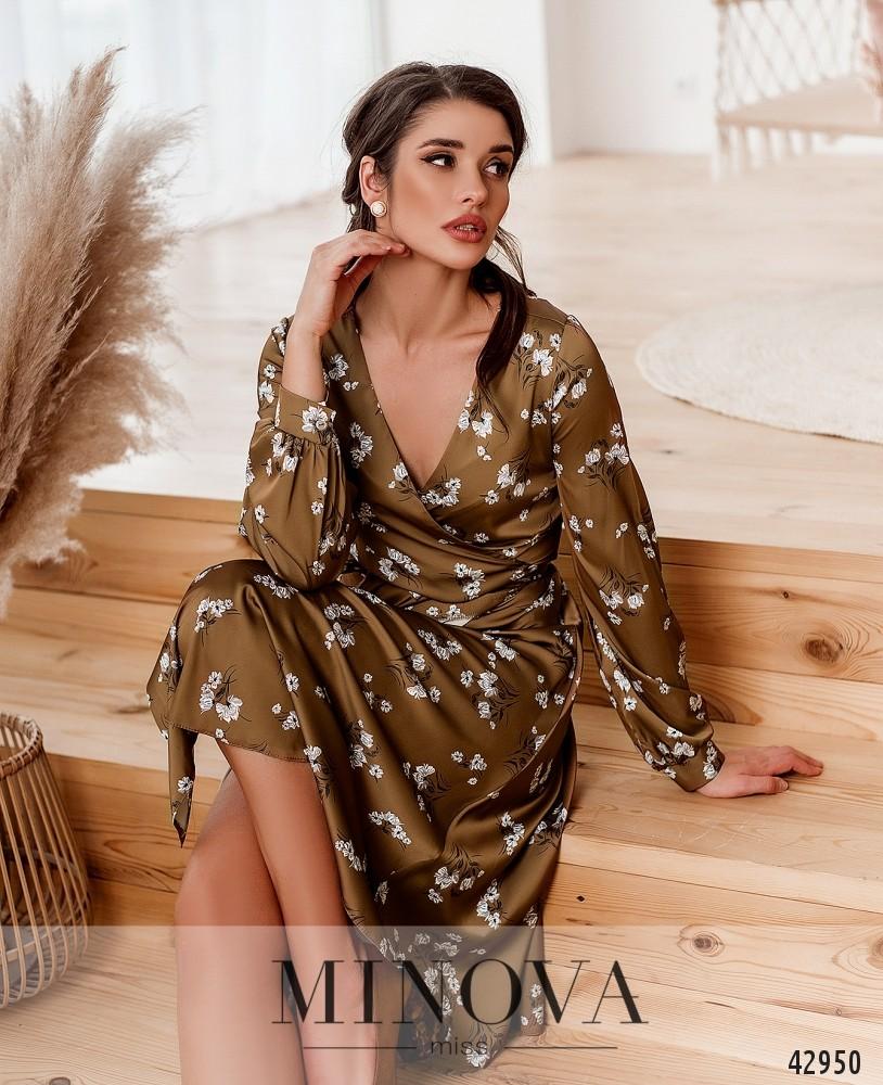 Платье MA2033-песочно-коричневый (н)
