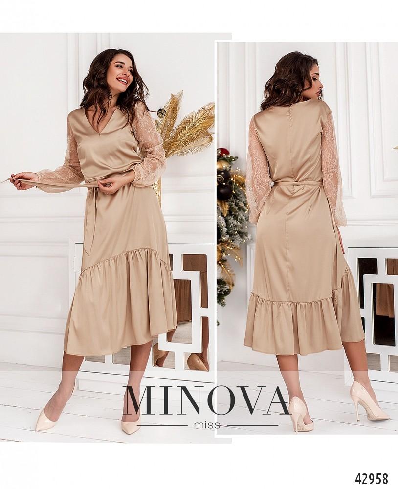 Платье №18102-бежевый