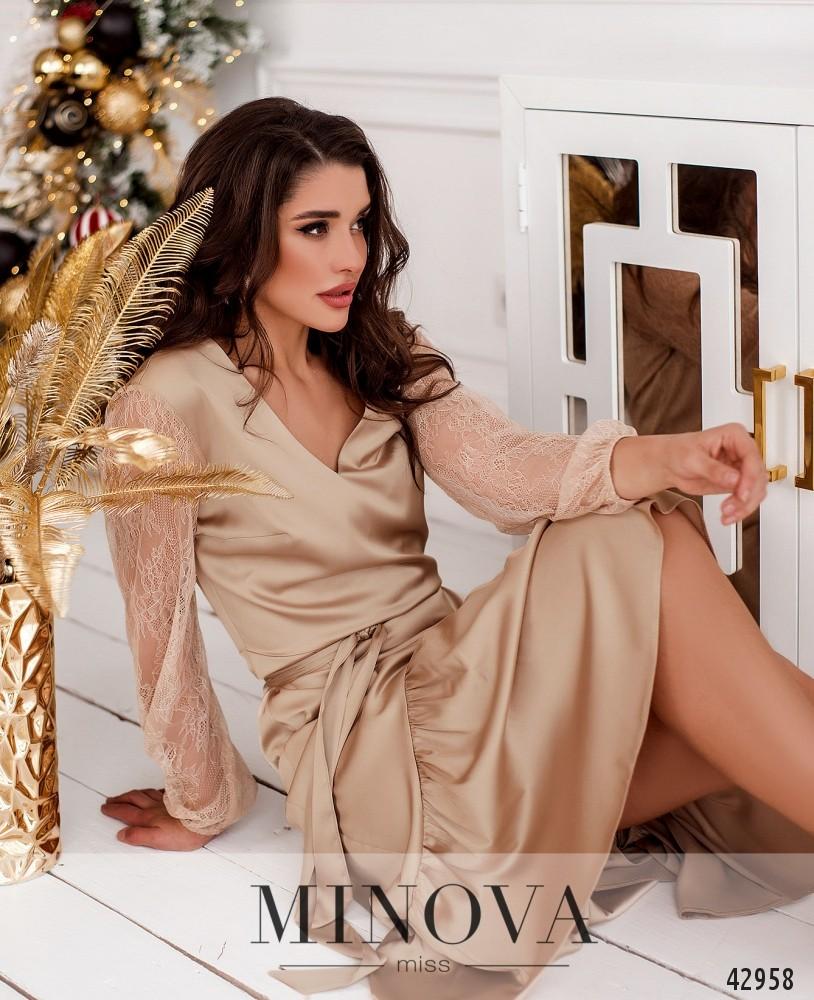 Платье MA18102-бежевый (н)
