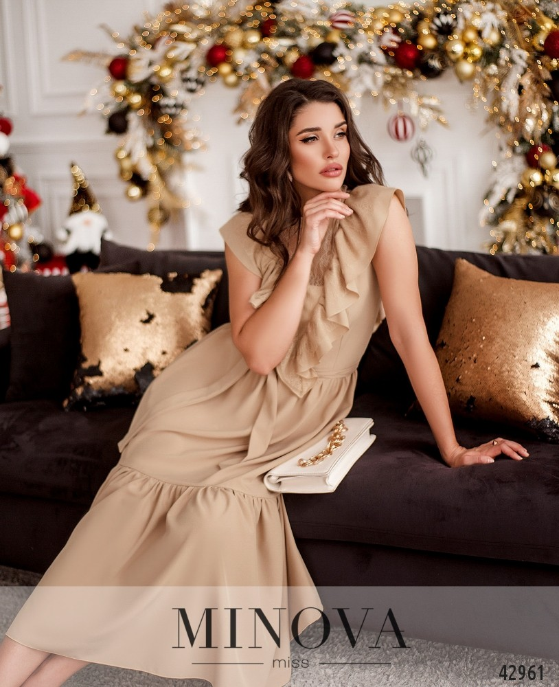 Платье MA18911-бежевый (н)