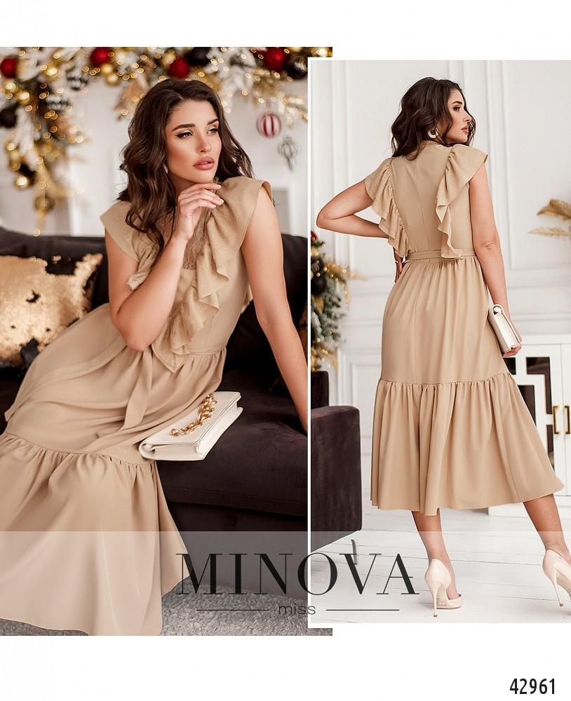 Платье №18911-бежевый