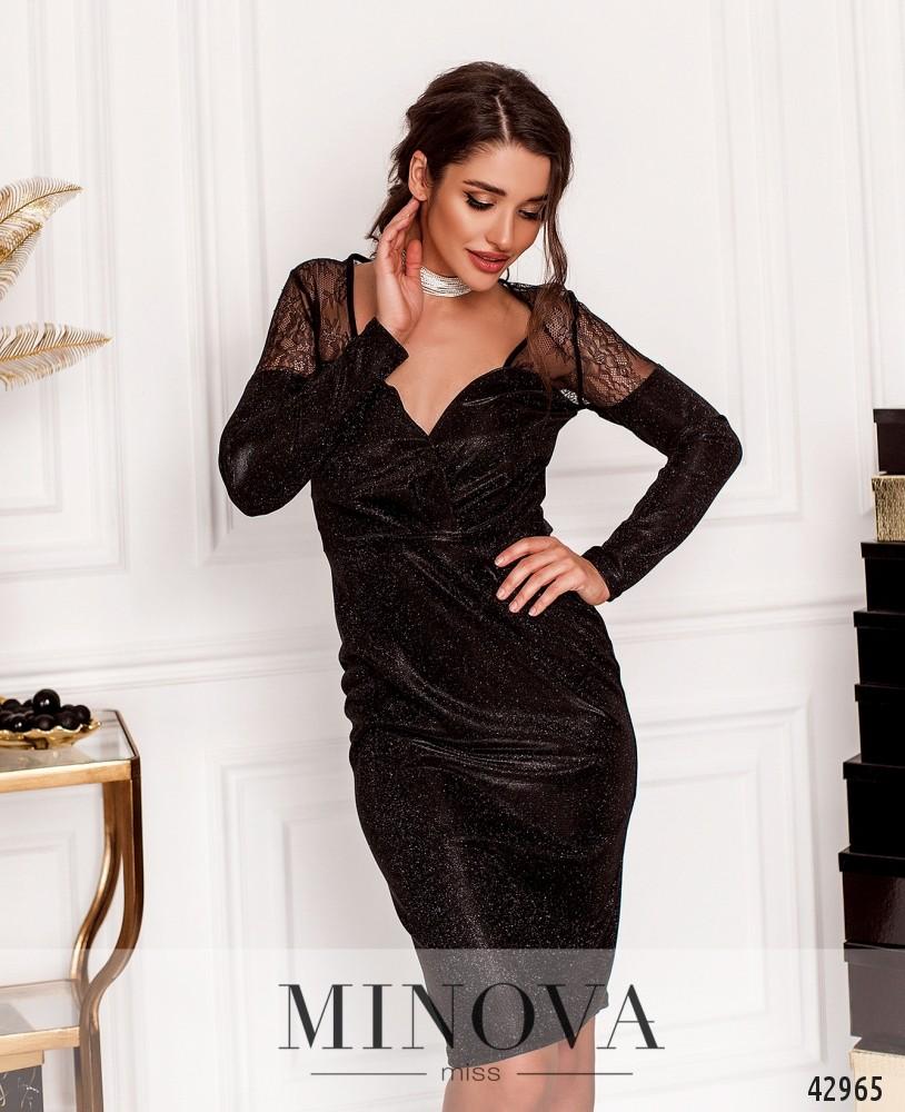 Платье MA18861-черный (н)