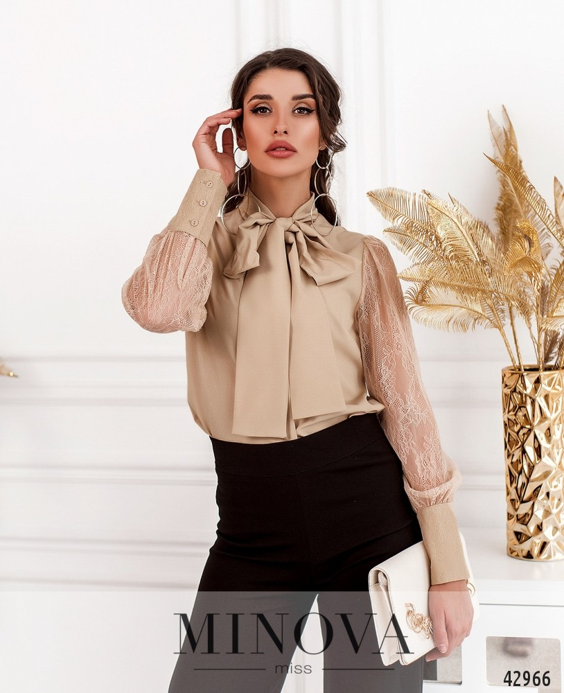 Рубашка MA19002-бежевый (н)
