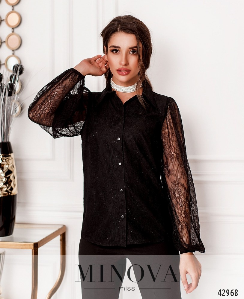 Рубашка MA18993-черный (н)