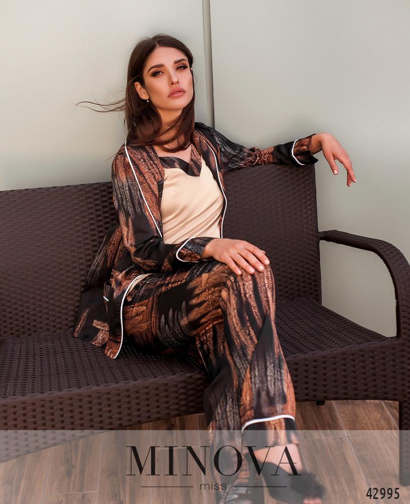 Пижамный комплект 3ка MA2095-черный (н)