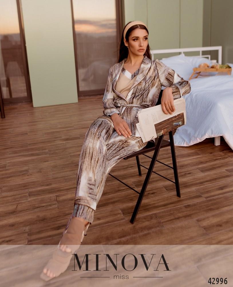 Пижамный комплект 3ка MA2095-бежевый (н)
