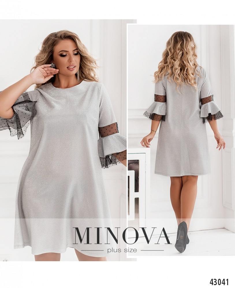 Платье №932-серебро