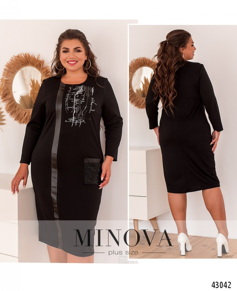 Платье №000111-чёрный