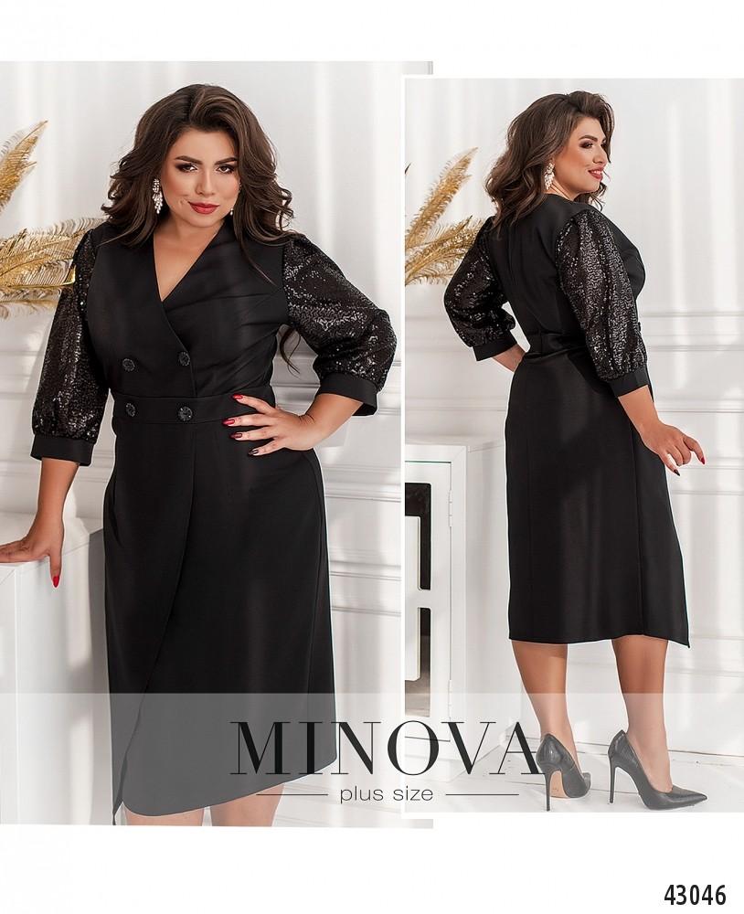 Платье №70240-1-черный