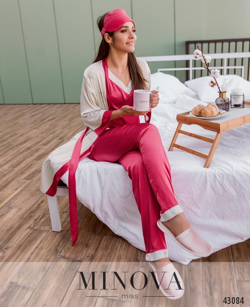 Пижамный костюм 3ка MA2097-розовый (н)