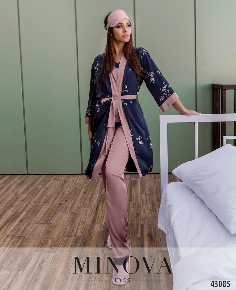 Пижамный костюм 3ка MA2097-пудра (н)