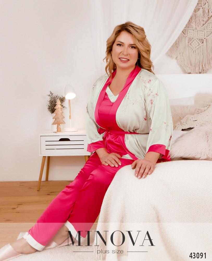 Пижамный костюм 3ка MA2097Б-розовый
