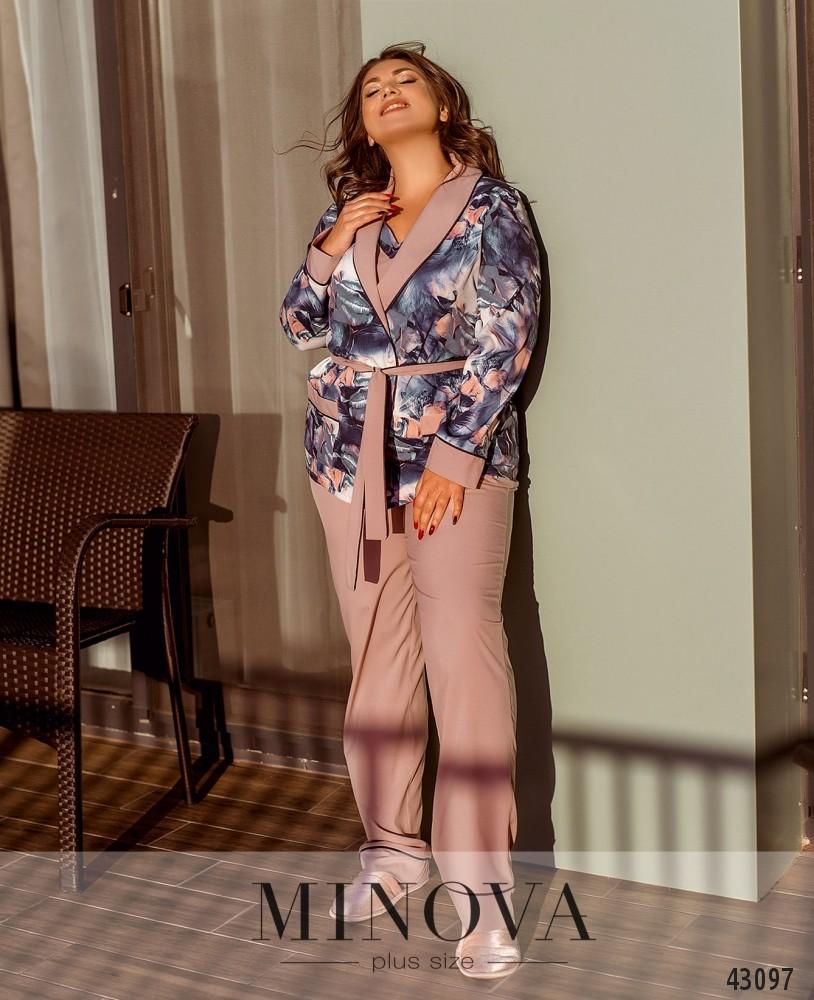 Пижамный костюм 3ка MA2096Б-розовый